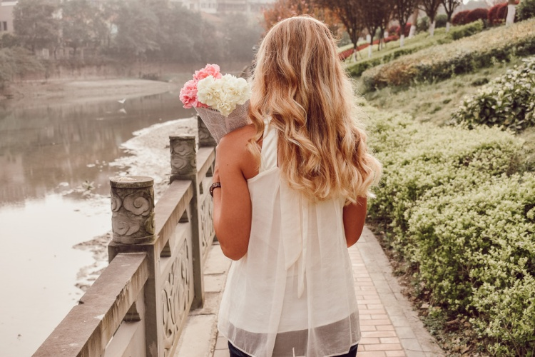 Chengdu China: Spring, Flowers, Fashion, Blonde Hair, Parisian by Courtney Livin